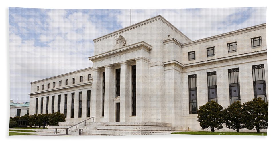 Federal Reserve Bath Sheet featuring the photograph Federal Reserve Building No2 by B Christopher