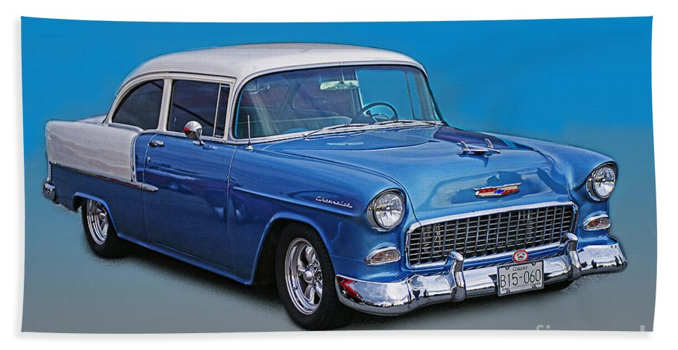 Cars Bath Sheet featuring the photograph Feeling The Blues by Randy Harris