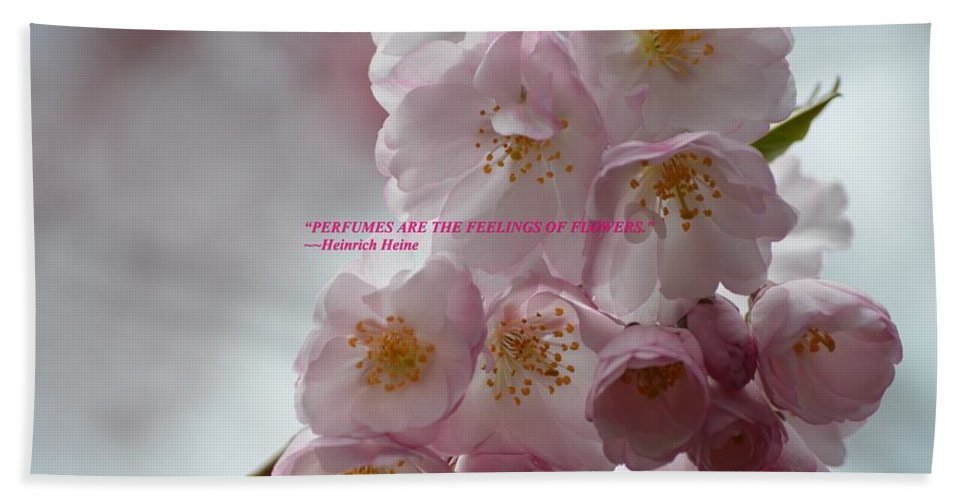 Pink Blossoms Hand Towel featuring the photograph Feelings Of Flowers by Sonali Gangane