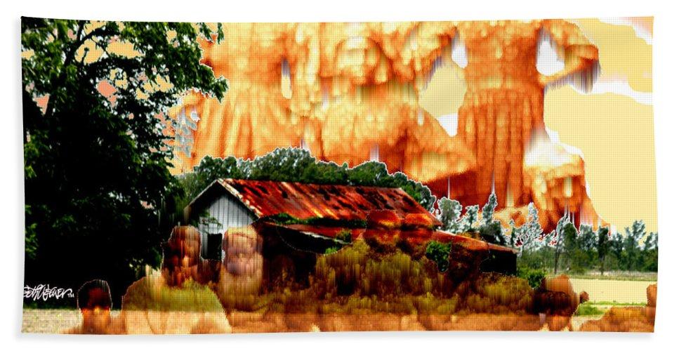Feels Like Home Bath Sheet featuring the digital art Feels Like Home by Seth Weaver