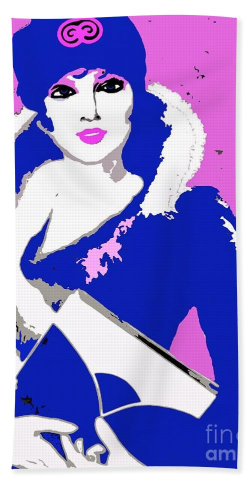 Femme Fatale Premeditated Spring Beauty Hand Towel featuring the painting Femme Fatale Premeditated Spring Beauty by Saundra Myles
