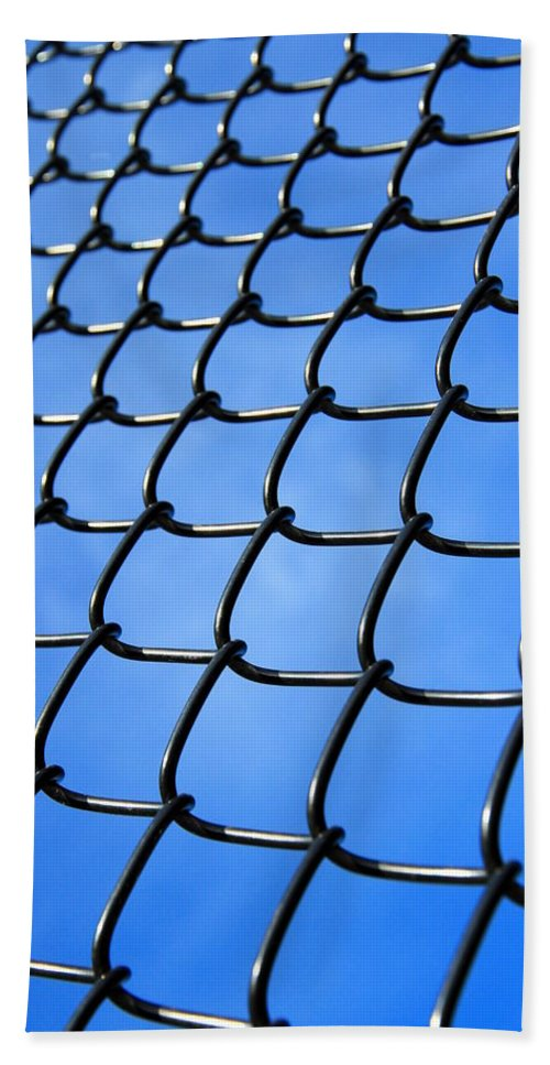 Blue Hand Towel featuring the photograph Fence by Valentino Visentini