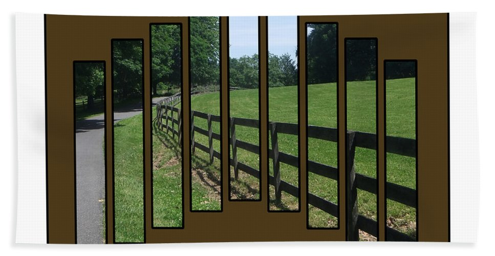 2d Hand Towel featuring the photograph Fenced Pasture by Brian Wallace