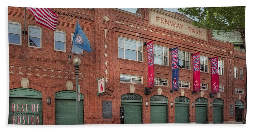 Fenway Park Bath Sheet featuring the photograph Fenway Park - Best Of Boston by Susan Candelario