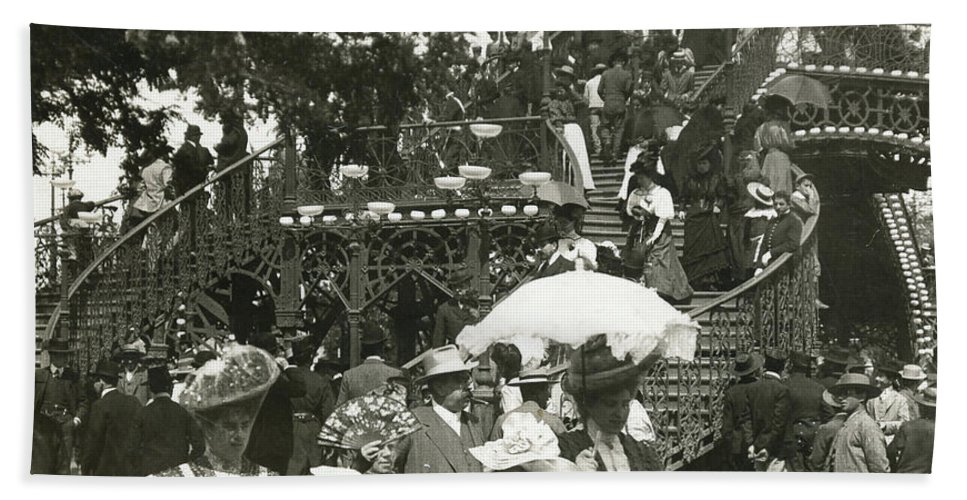 1908 Bath Sheet featuring the photograph Feria by Granger
