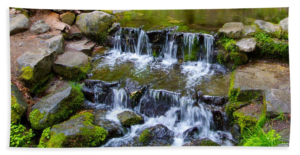 Dogwood Bath Sheet featuring the photograph Fern Spring In Spring In Yosemite Np-2013 by Ruth Hager