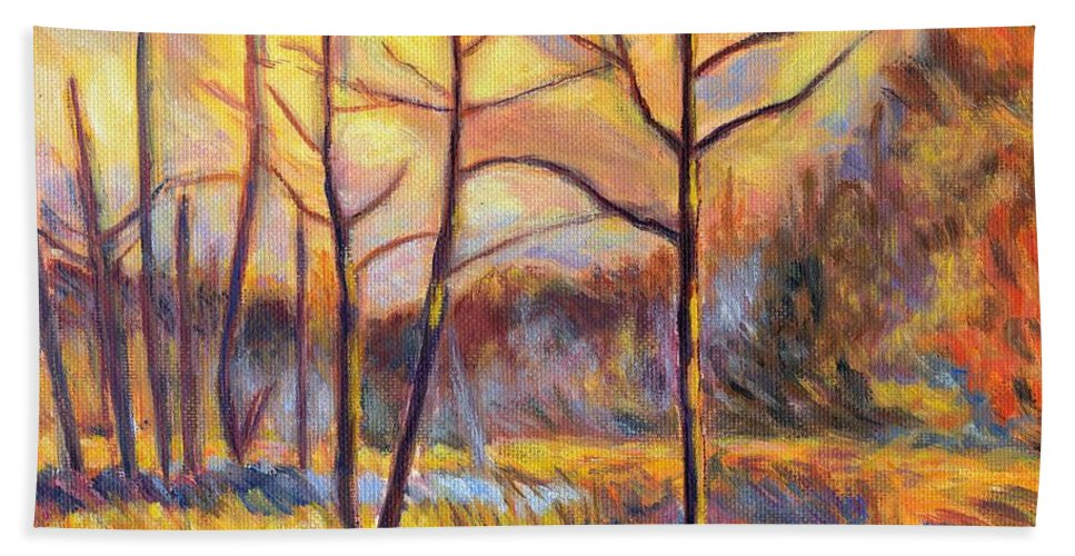 Landscape Hand Towel featuring the painting Ferrum Sketch by Kendall Kessler