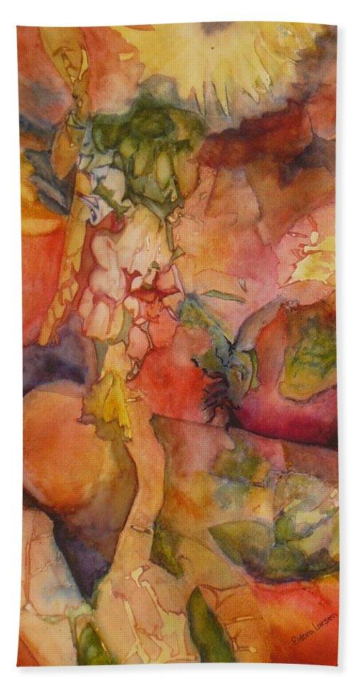 Vegetables Bath Sheet featuring the painting Fertility by Eldora Schober Larson