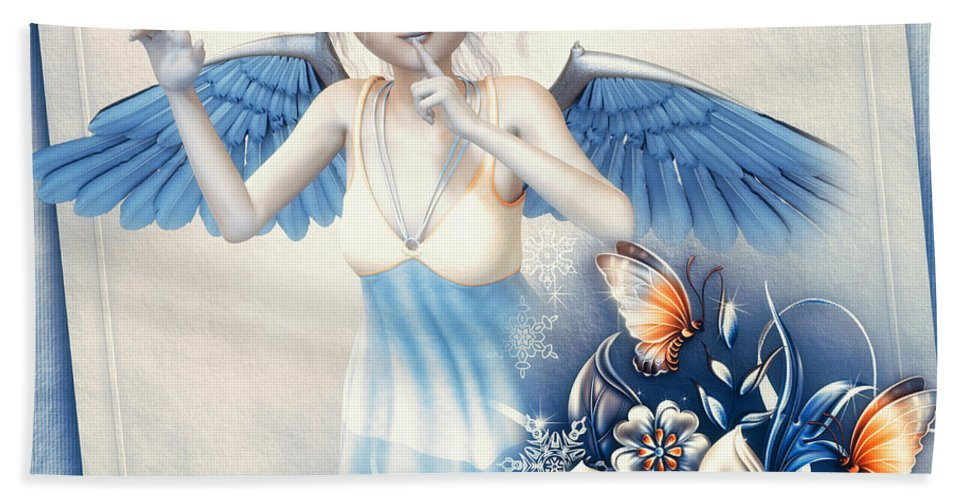 3d Hand Towel featuring the digital art Festive Silence by Jutta Maria Pusl
