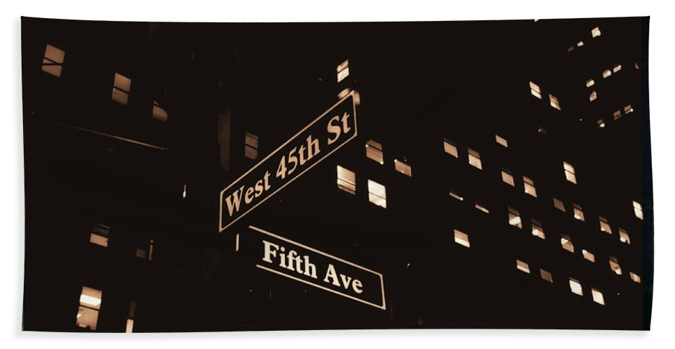 New York Bath Sheet featuring the photograph Fifth Avenue by Donna Blackhall