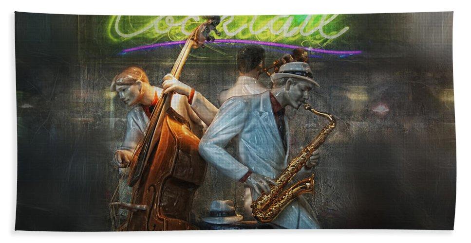 Jazz Bath Sheet featuring the photograph Fifties Cocktail Jazz by Joachim G Pinkawa