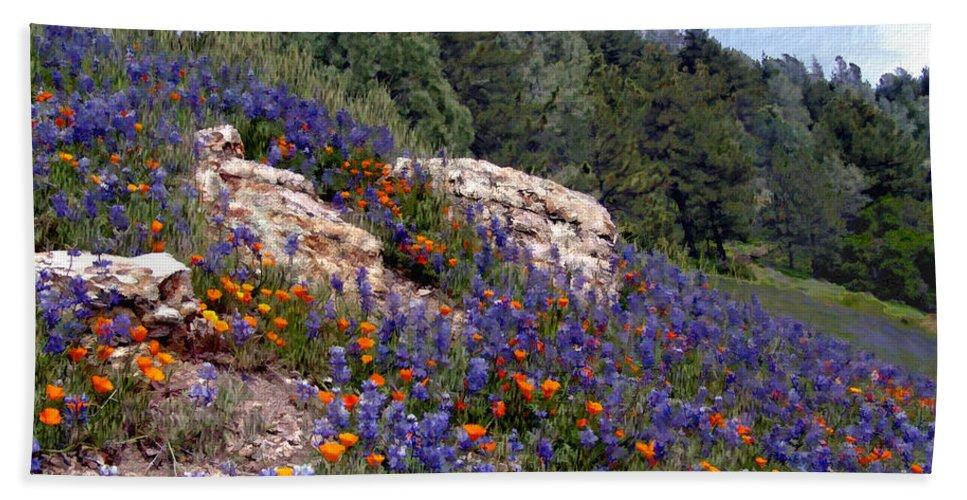 Flowers Hand Towel featuring the photograph Figueroa Mountain Splendor by Kurt Van Wagner