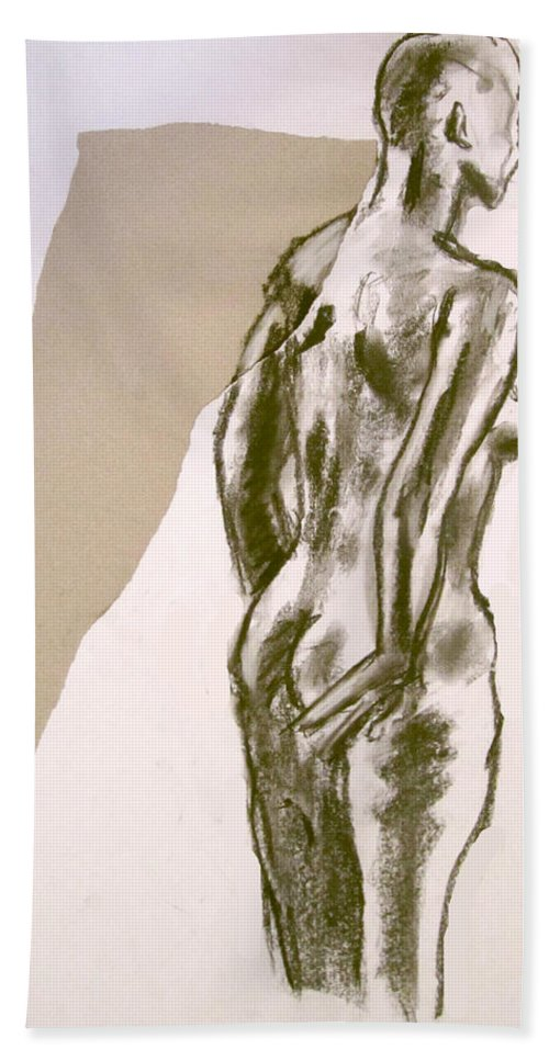 Nude Paintings Paintings Hand Towel featuring the painting Figure Collage by Jason Gluskin