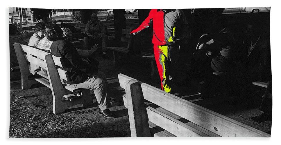 Film Homage Elmer Gantry 2 1960 Street Preacher Armory Park Tucson Arizona Color Added Hand Towel featuring the photograph Film Homage Elmer Gantry 2 1960 Street Preacher Armory Park Tucson Arizona by David Lee Guss
