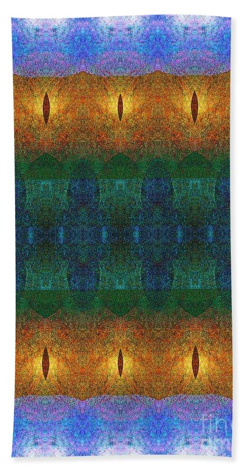 Pattern Hand Towel featuring the digital art Fine Details Of Pattern by Klara Acel