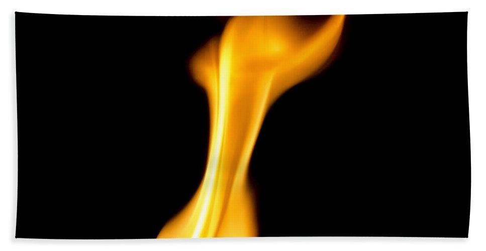 Explosive Bath Sheet featuring the photograph Fire 002 by Robert Mollett