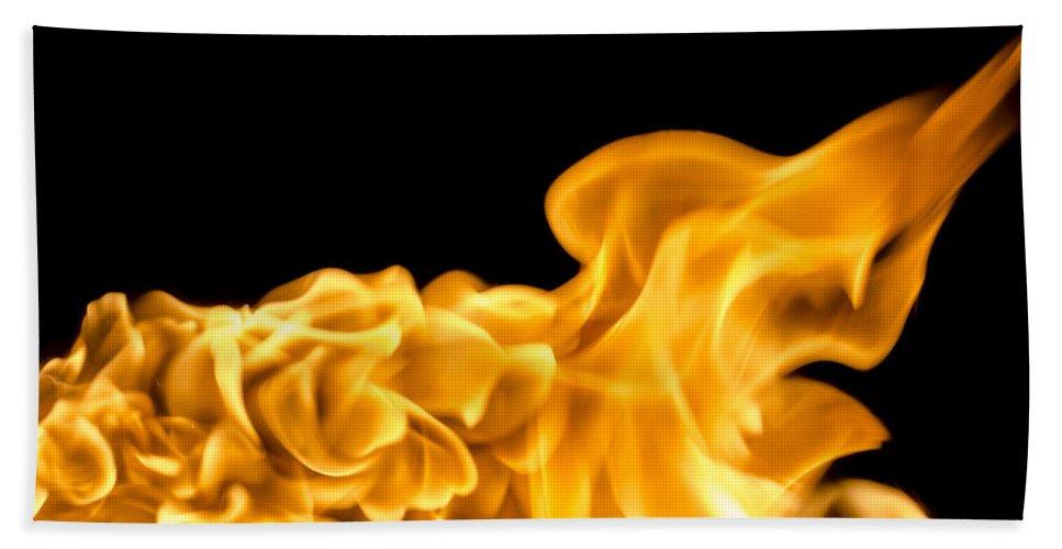 Explosive Bath Sheet featuring the photograph Fire 016 by Robert Mollett