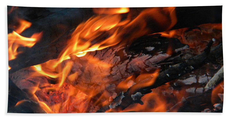 Flame Hand Towel featuring the photograph Fire 2 by Nathanael Smith