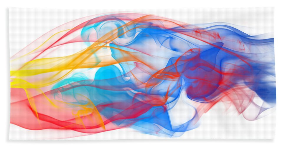 Abstract Bath Sheet featuring the photograph Fire And Ice Smoke II by Jt PhotoDesign