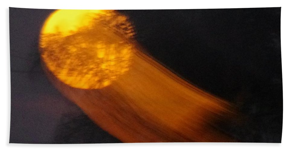 Moon Bath Sheet featuring the photograph Fire Ball Moon by Phyllis Spoor