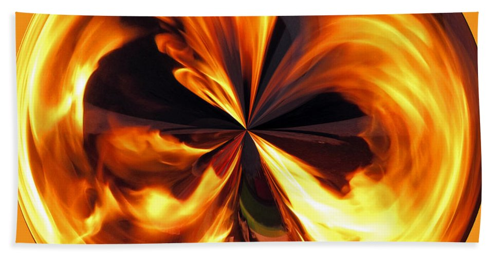 Fireball Hand Towel featuring the photograph Fire Ball by Tikvah's Hope