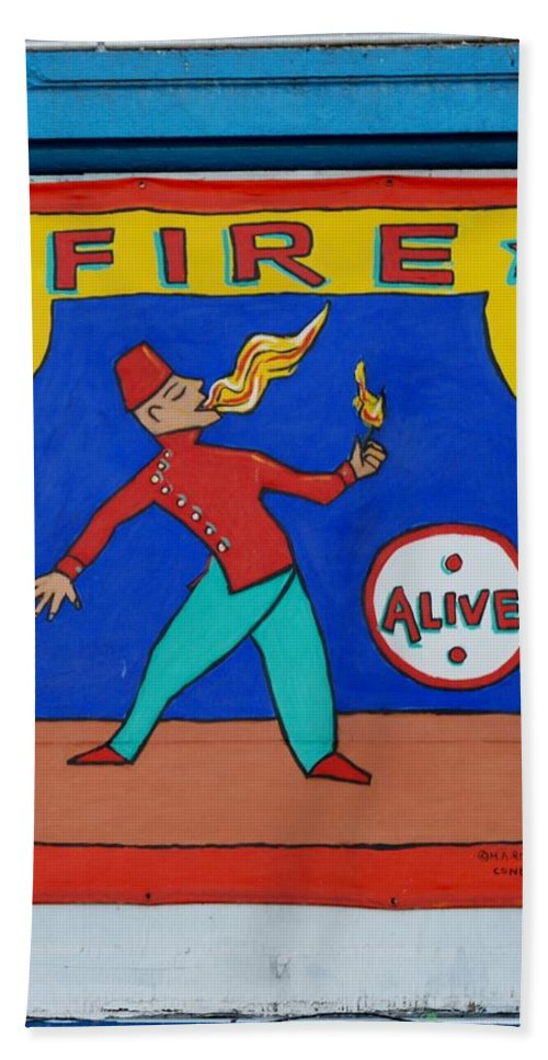 Brooklyn Bath Sheet featuring the photograph Fire Eater by Rob Hans