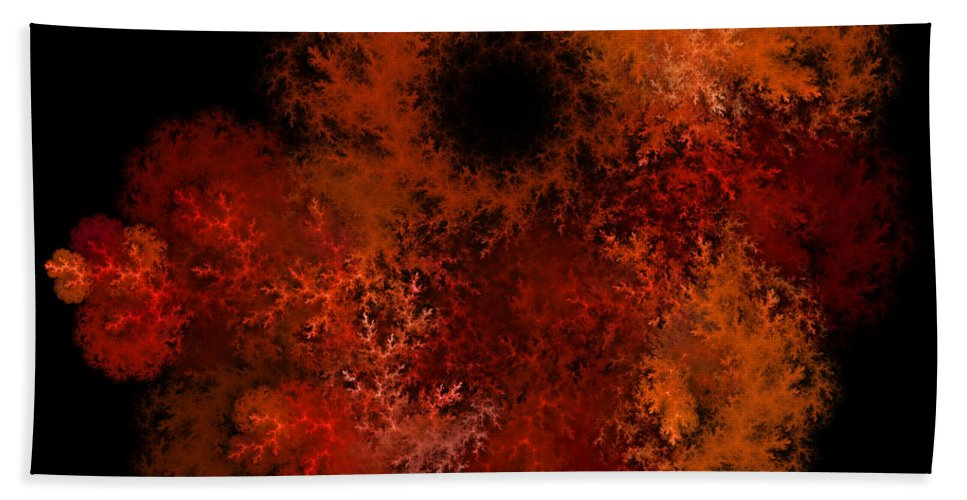 Fractal Hand Towel featuring the photograph Fire Hole by Sylvia Thornton