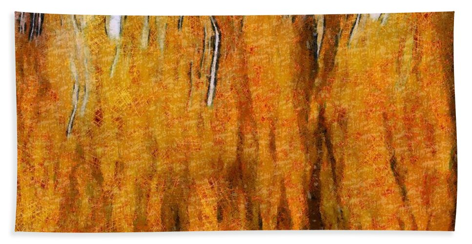 Fire Spirits Bath Sheet featuring the painting Fire Spirits by Dan Sproul