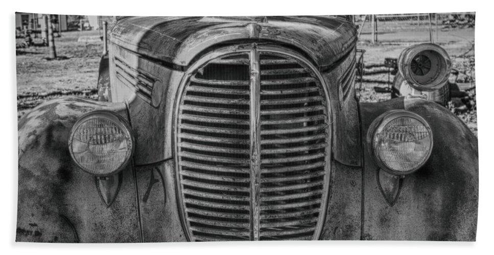 Fire Truck Hand Towel featuring the photograph Fire Truck by Erika Weber