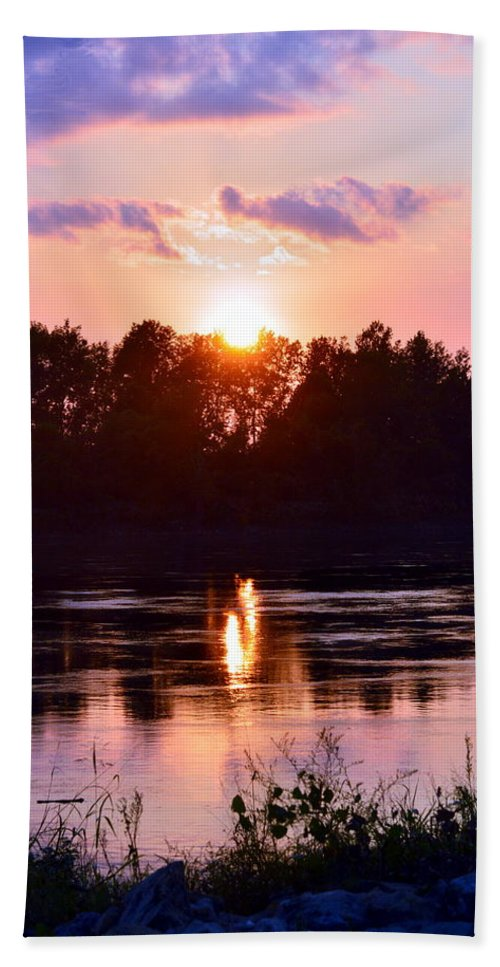 Bath Sheet featuring the photograph Fire Water by Kim Blaylock