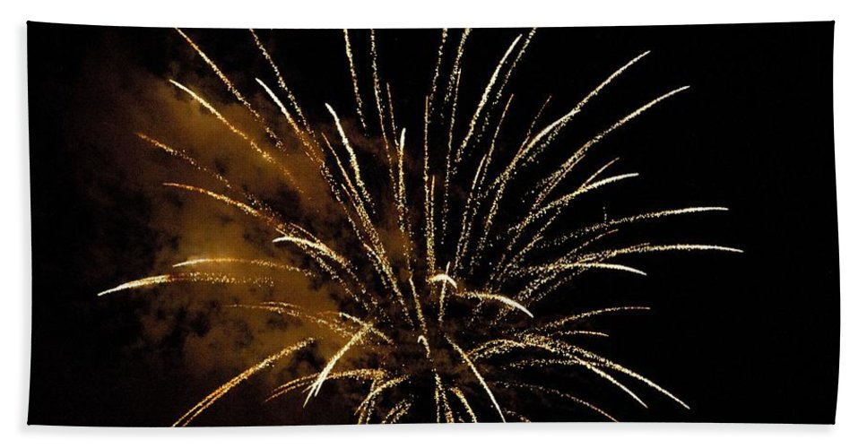 Sky Bath Sheet featuring the photograph Firework by FL collection