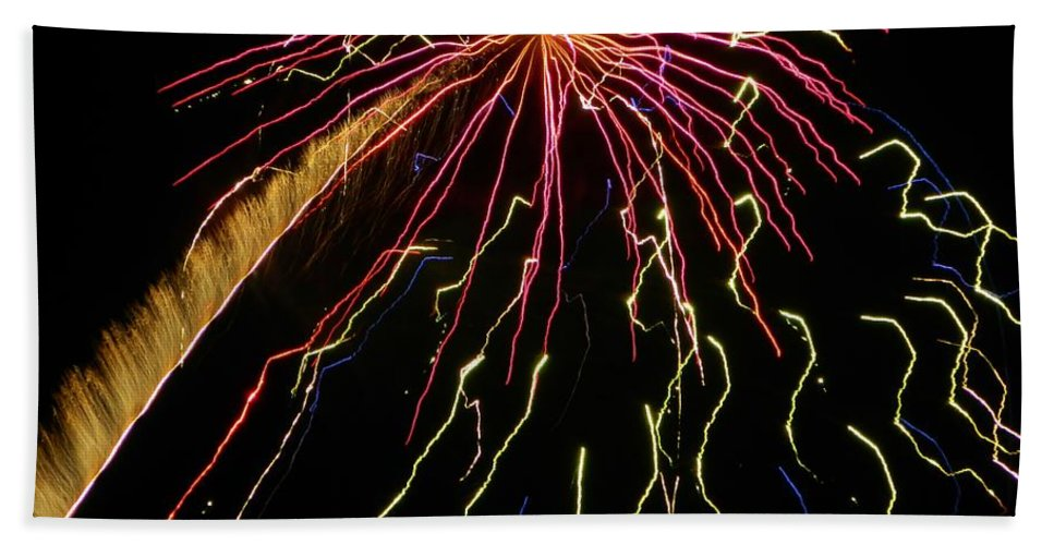 Bath Sheet featuring the photograph Fireworks 11 by Gallery Of Hope