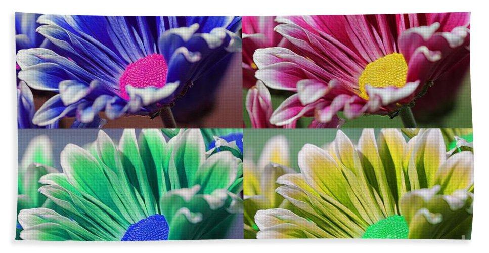 Mccombie Bath Sheet featuring the digital art Firmenish Bicolor Pop Art Shades by J McCombie