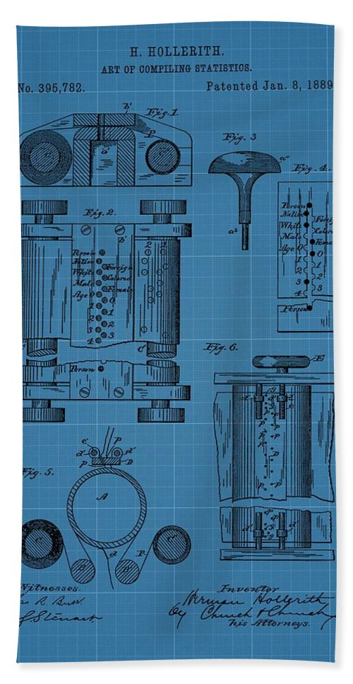 First computer blueprint patent hand towel for sale by dan sproul first computer blueprint patent hand towel featuring the drawing first computer blueprint patent by dan sproul malvernweather Images