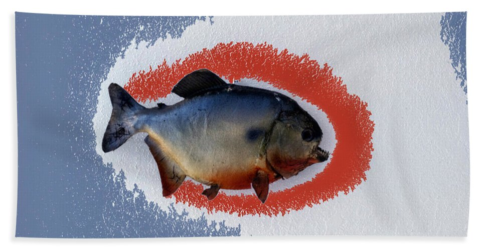Animals Bath Sheet featuring the photograph Fish Mount Set 12 B by Thomas Woolworth