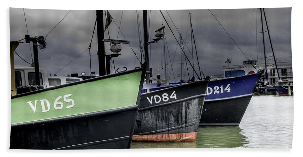 Fishing Bath Sheet featuring the photograph Fishing Boats by Adriana Zoon