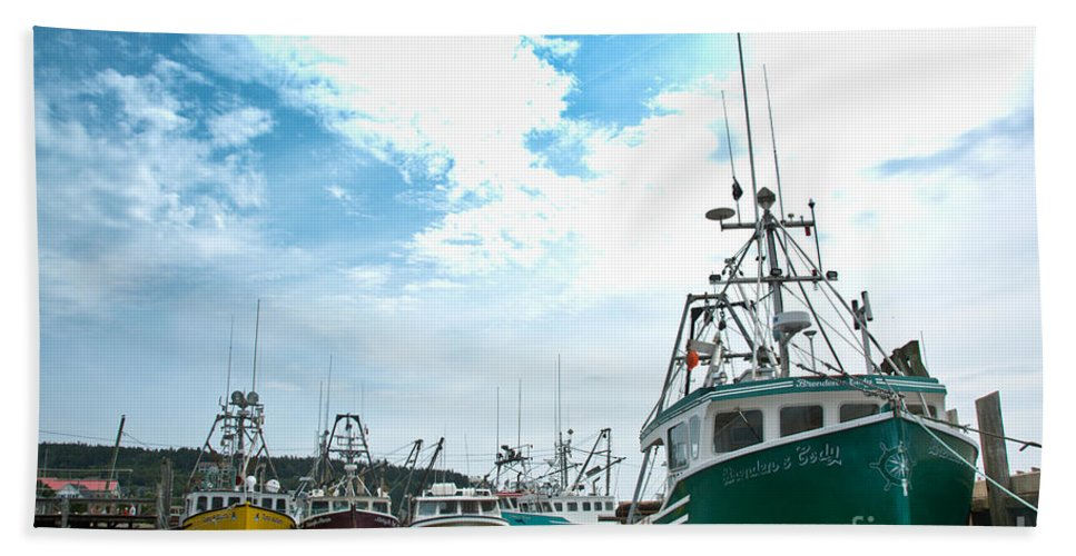 Hand Towel featuring the photograph Fishing Boats by Cheryl Baxter