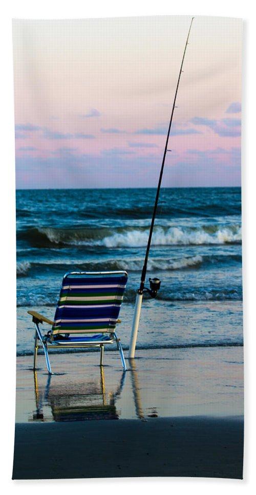 Beach Bath Sheet featuring the photograph Fishing On The Beach by Gaurav Singh