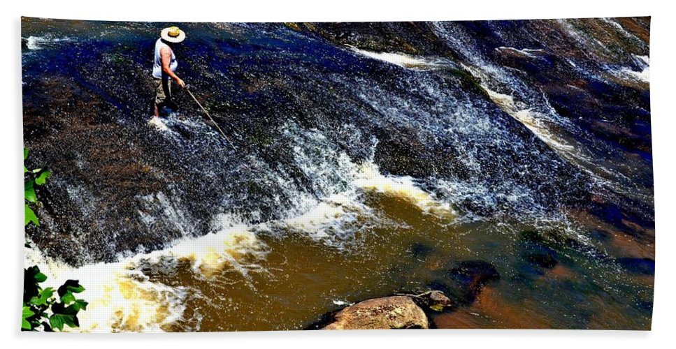 Fishing Hand Towel featuring the photograph Fishing On The South Fork River by Tara Potts