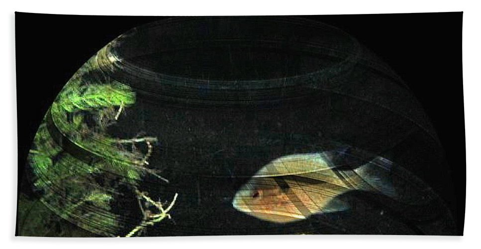 Fish Bath Sheet featuring the photograph Fishy by April Patterson