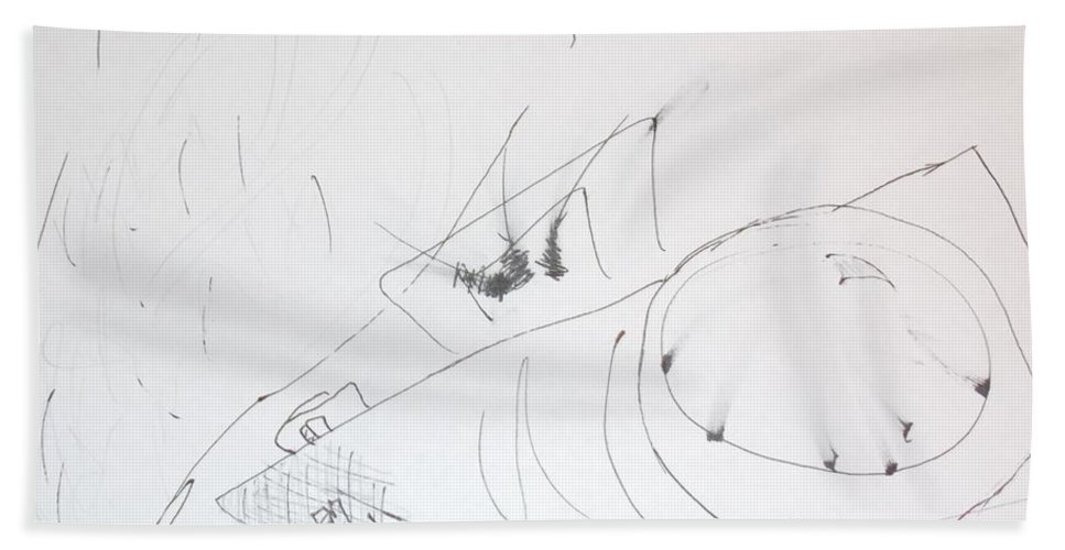 Sketch Bath Sheet featuring the photograph Fist And Cam by Brent Dolliver