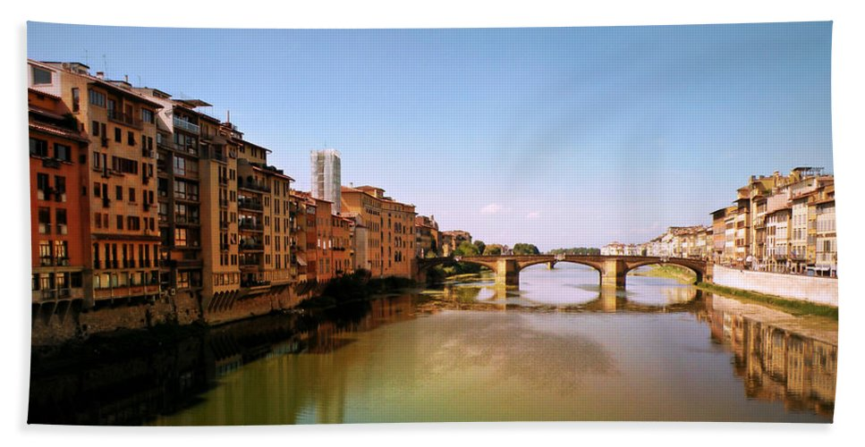Fiume Di Sogni Bath Sheet featuring the photograph Fiume Di Sogni by Micki Findlay