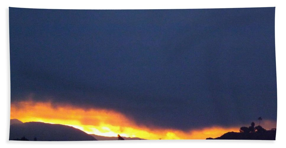 Sunrise Hand Towel featuring the photograph Flaming Sunrise II by Jussta Jussta