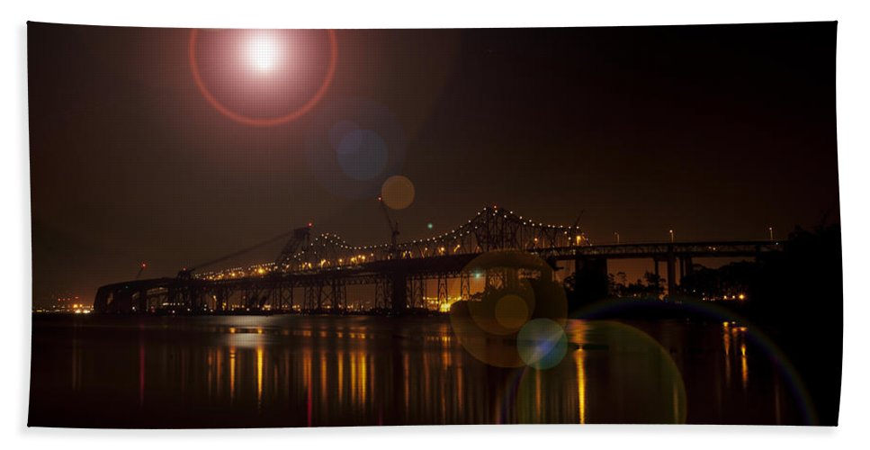 Bridge Bath Sheet featuring the photograph Flare by Priscilla De Mesa