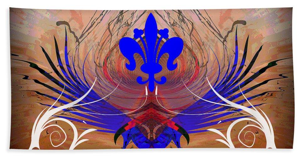 Fleur Bath Sheet featuring the digital art Fleur De Lis by Michael Damiani