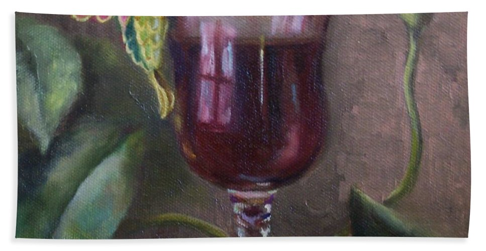 Still Life Hand Towel featuring the painting Flight Of Fancy by Marlene Book