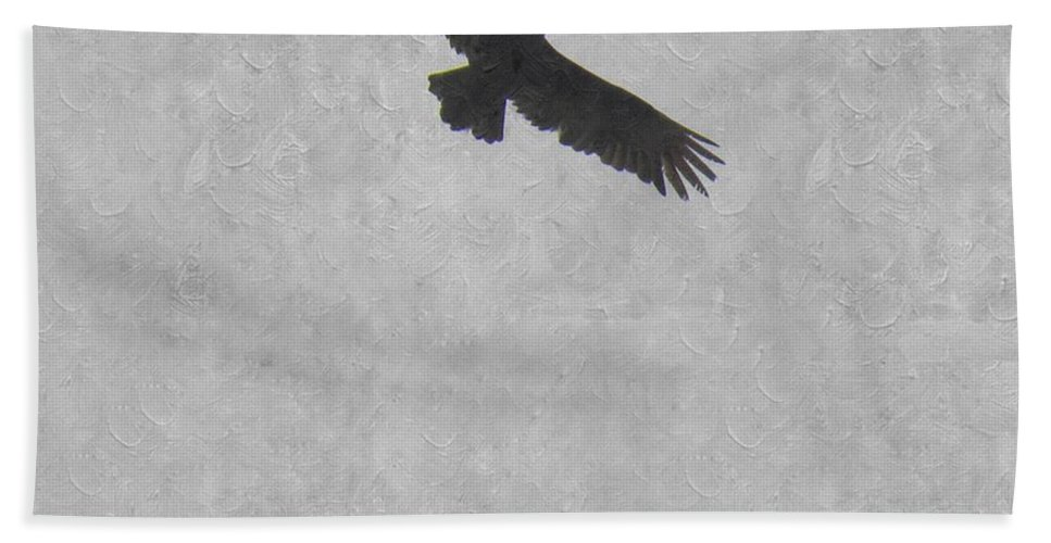 Buzzard Hand Towel featuring the photograph Flight Of The Buzzard by Annie Adkins