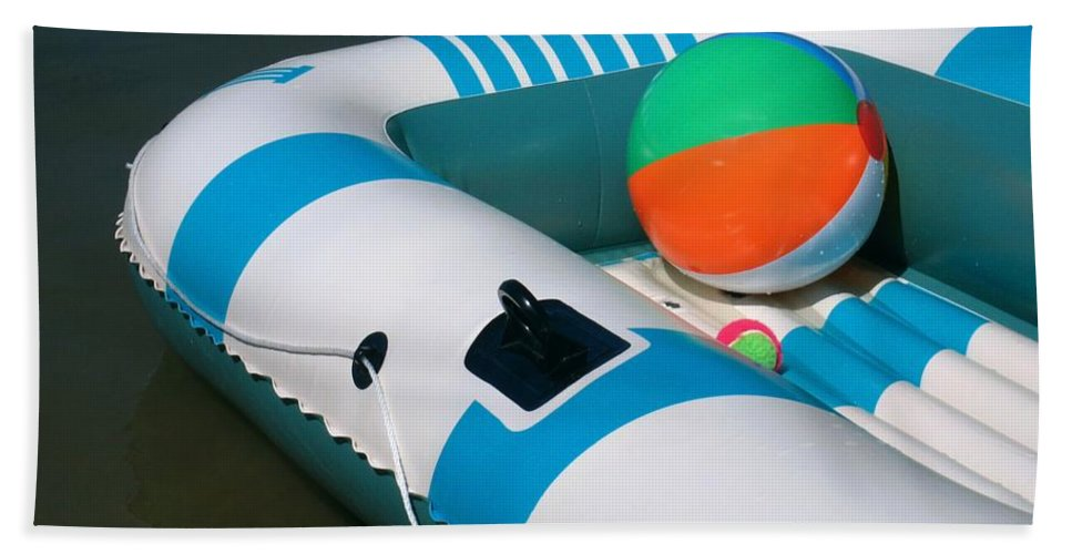 Boat Bath Sheet featuring the photograph Floating Fun by Ann Horn