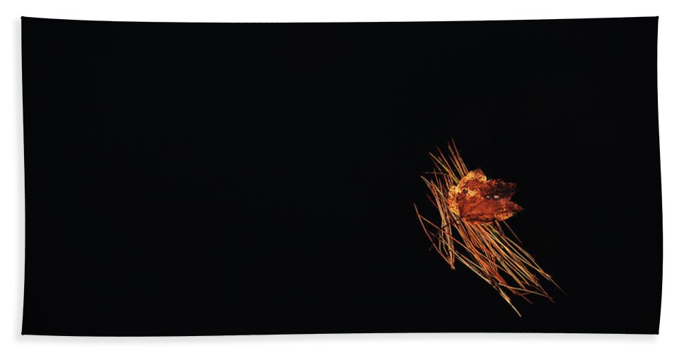 Autumn Bath Sheet featuring the photograph Floating by Karol Livote