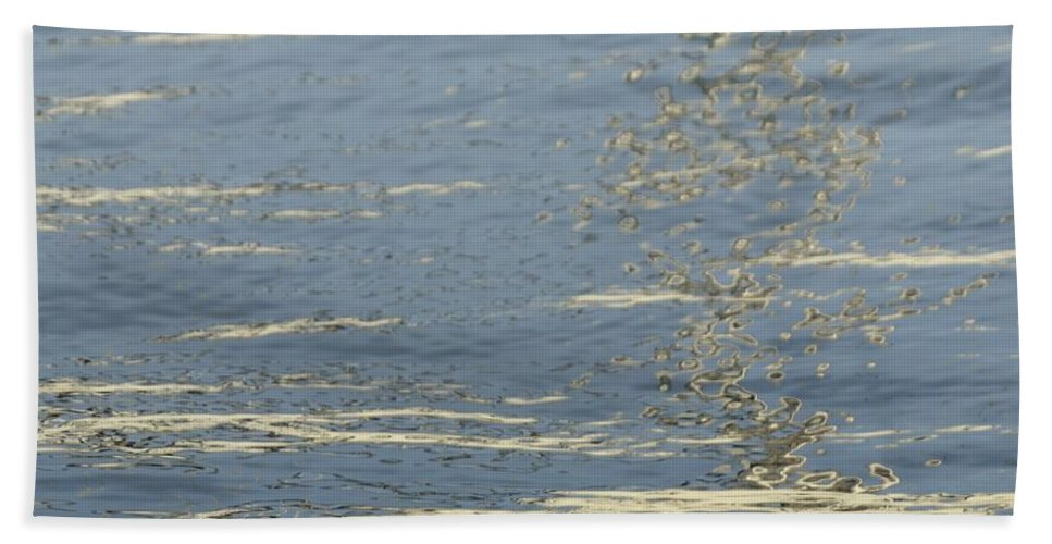 Floating Hand Towel featuring the photograph Floating On Blue 17 by Wendy Wilton